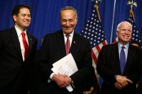 Marco Rubio, Chuck Schumer, John McCain